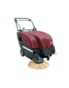 Manual and automatic walk-behind carpet sweepers